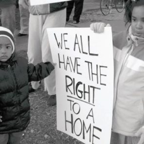Kids at a protest